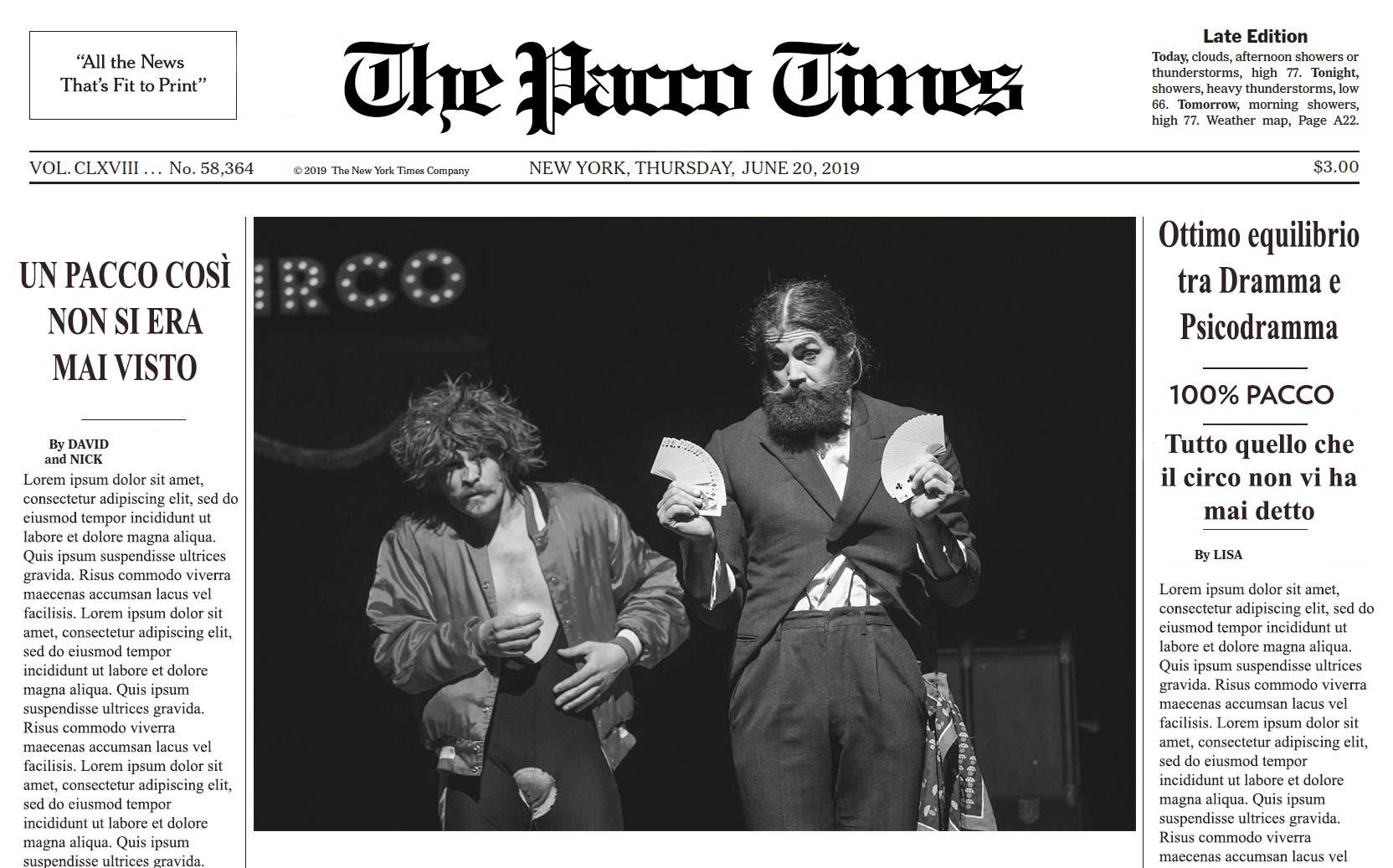 Circo Pacco Times